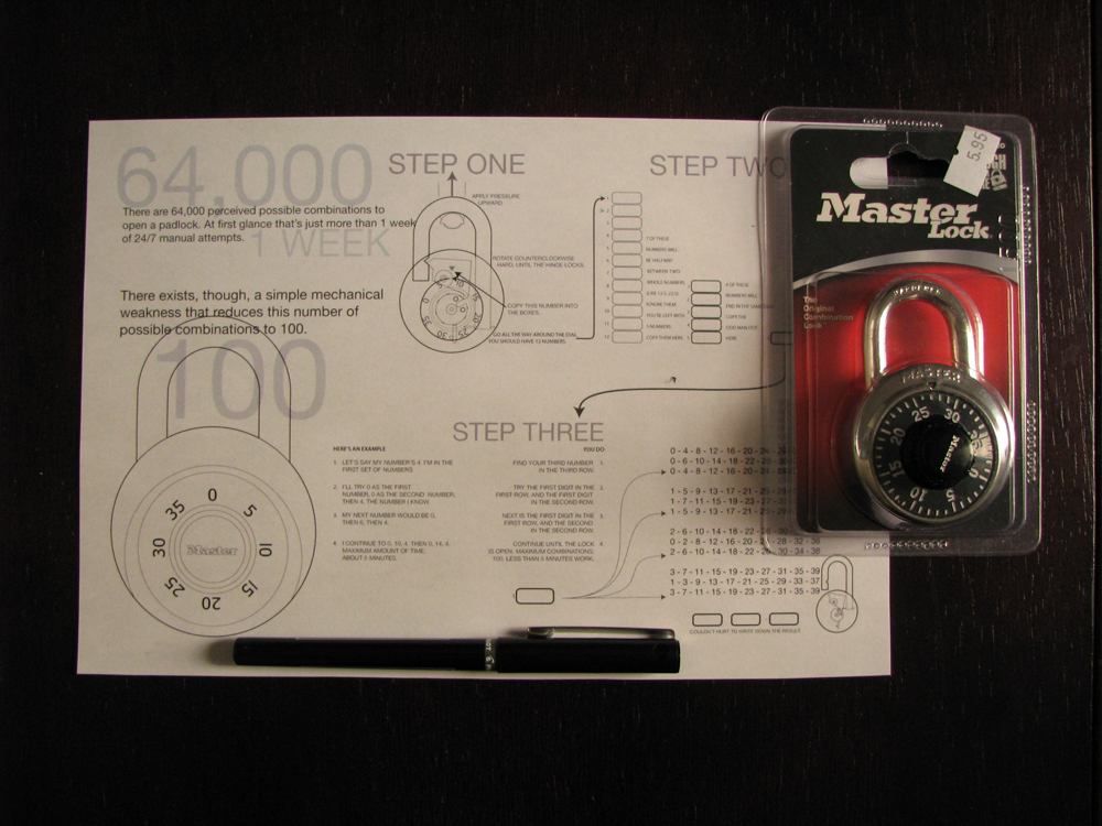 How To Unlock Any Master Lock Combination Padlock Lock ...